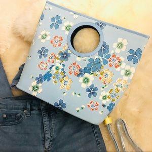 Handbags - Sky Blue Shoulder/wrist handbag